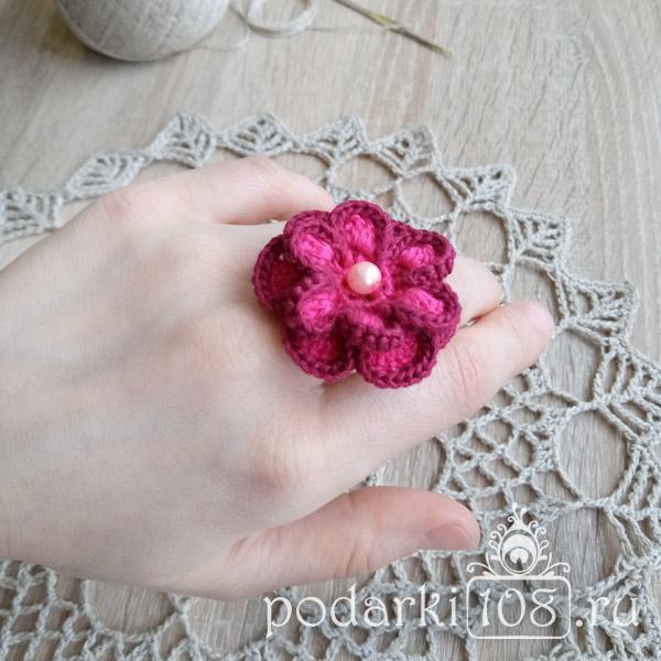 Вязаное кольцо Розолита