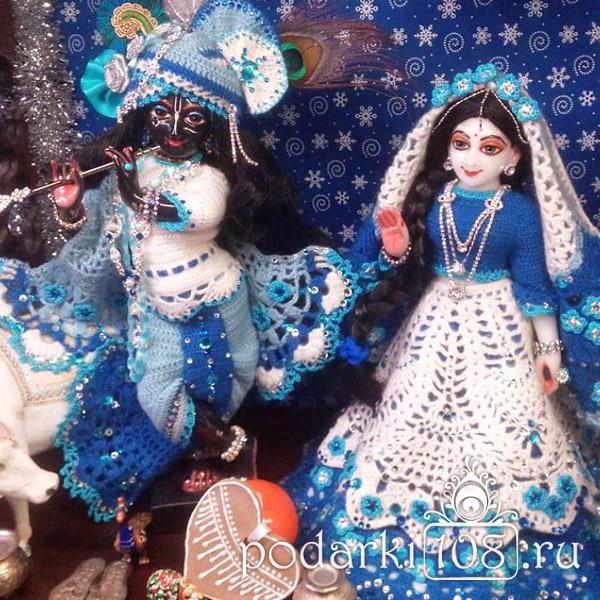 Вязаные одежды для Радхха-Кришны