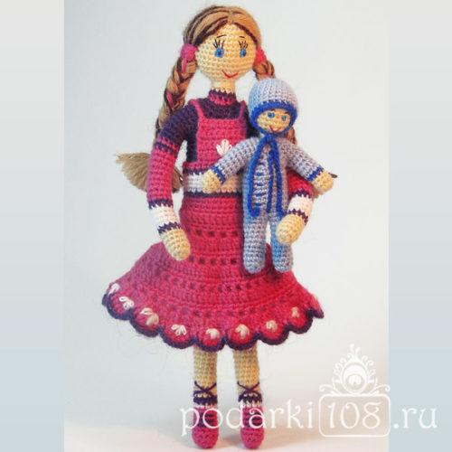 Вязаная кукла Алена с малышом