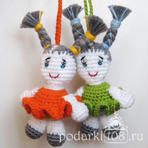 Вязаные мини куклы амигуруми