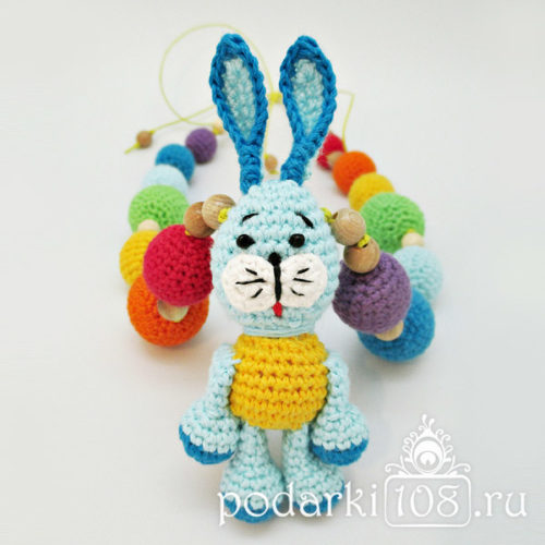 Слингобусы с игрушкой Зайчик Радуга