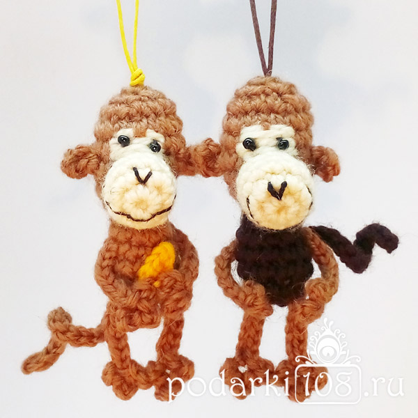 Вязаная обезьянка Чика