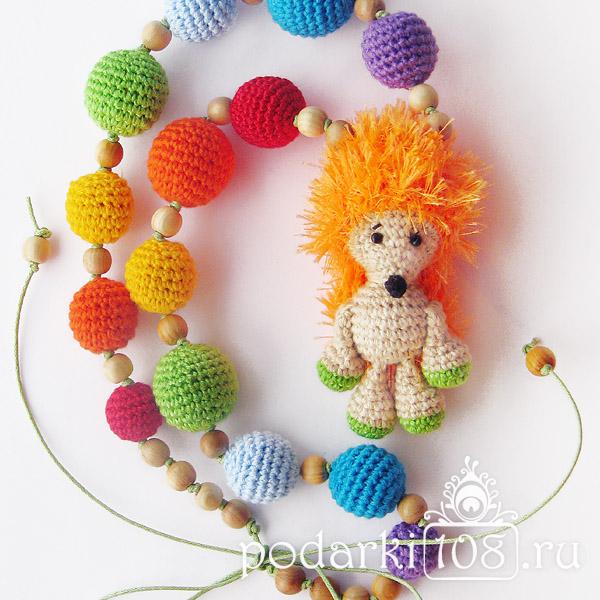 Слингобусы с игрушкой Еж Радуга