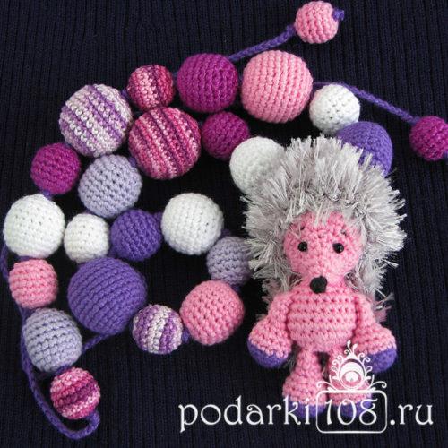 Слингобусы с игрушкой Ежик Сиреневый туман
