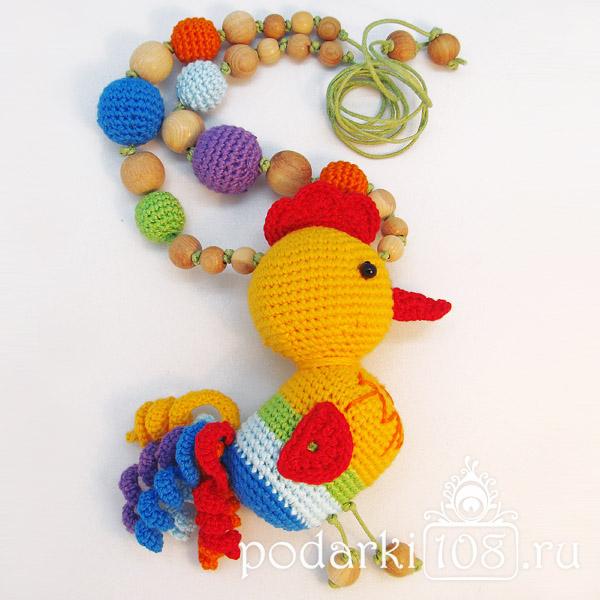 Слингобусы с игрушкой Петя Петушок Радуга