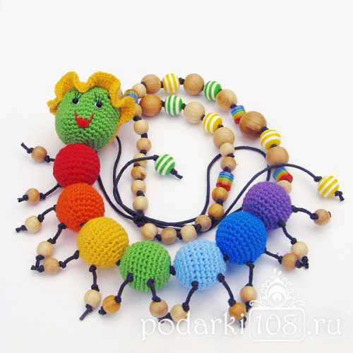 Слингобусы с игрушкой Радужная Гусеничка