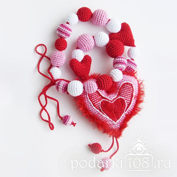 Слингобусы с игрушкой Сердце Валентинка