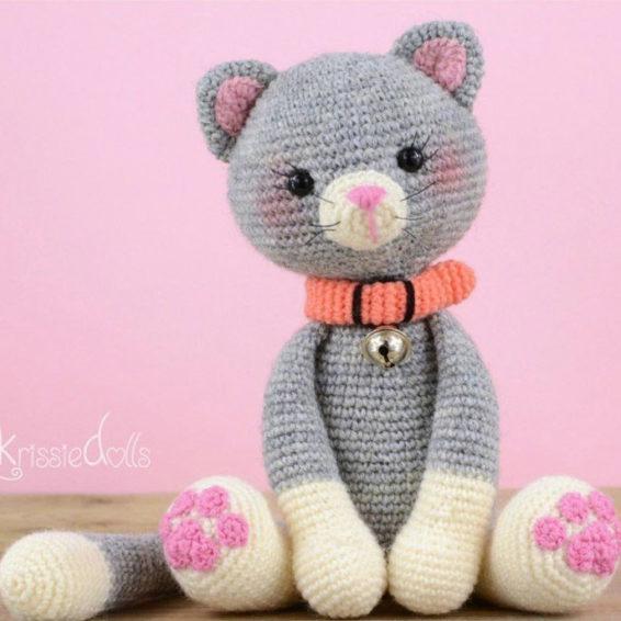 Кот крючком Описание вязания