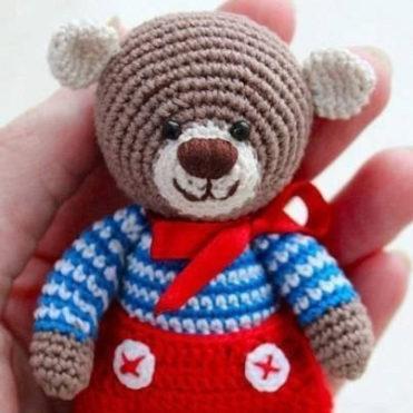 Вязаный Маленький Мишка описание вязания