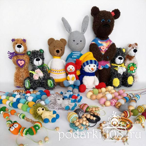 Вязаные игрушки для детей в детдом