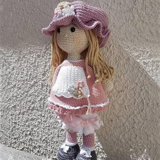 мастер-класс вязанная кукла крючком