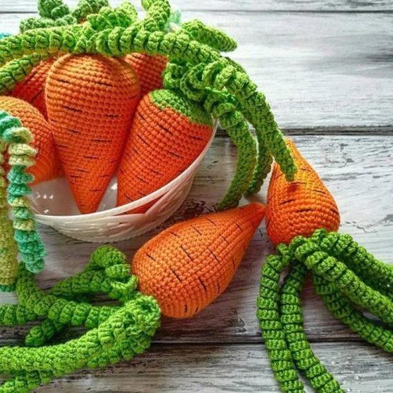 Мастер-класс Вязаная Морковь