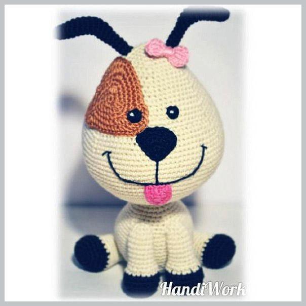 Вязанная крючком собака щенок мастер-класс