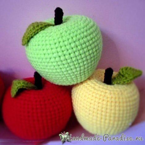 Мастер класс яблоко крючком Описание