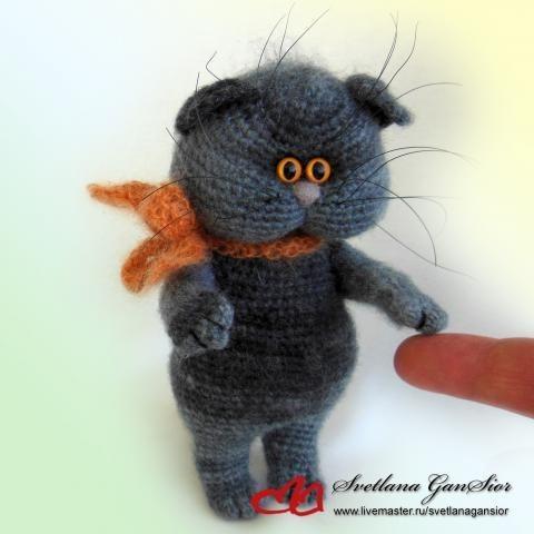 Мастер класс котенок Кузя подробное описание вязания крючком
