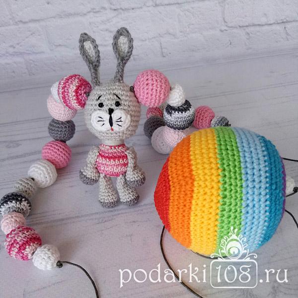 Слингобусы Зайчик Розочка и Мяч Радуга