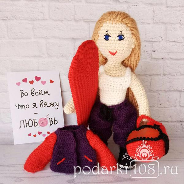 Вязаная кукла по фото на заказ