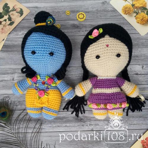Куклы Радха Кришна малыши