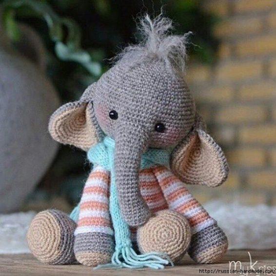 Мастер-класс Вязаный Слон