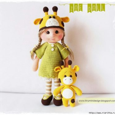 Вязаная кукла Зоя и жираф Мастер класс