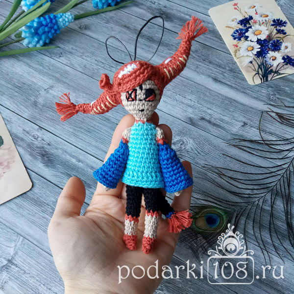 Вязаная кукла по фото