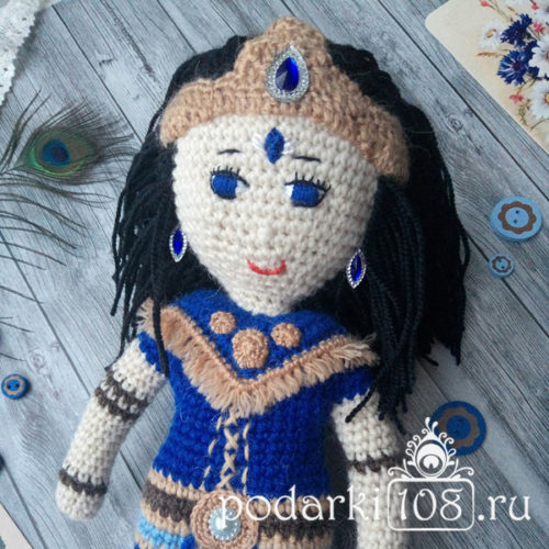 Вязаная кукла Шани дев