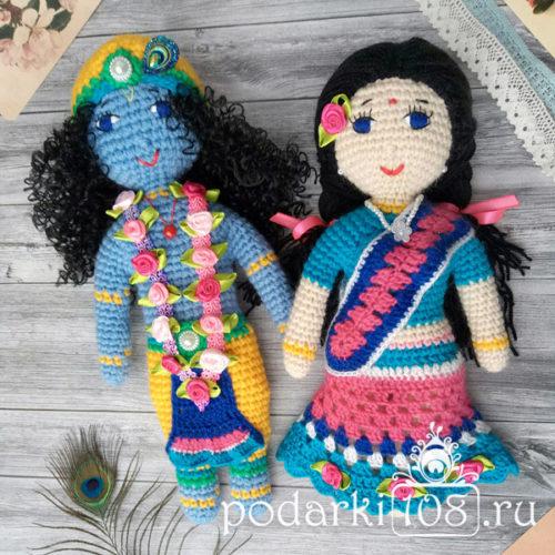 Вязаные куклы Радха Кришна