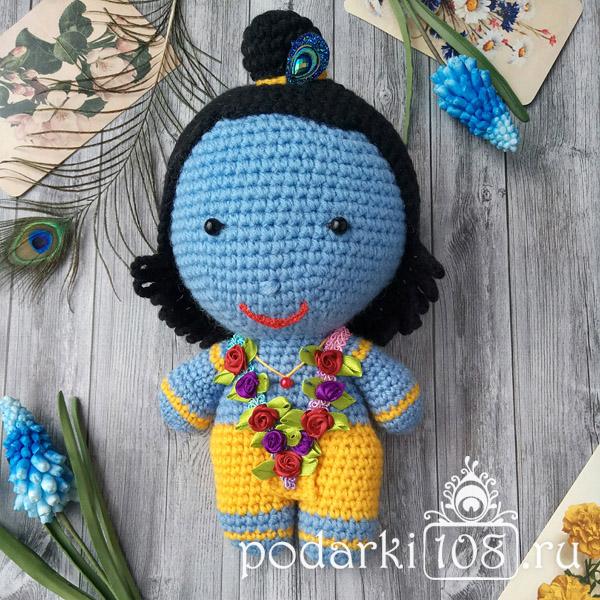 Вязаная кукла Кришна купить Подарки108