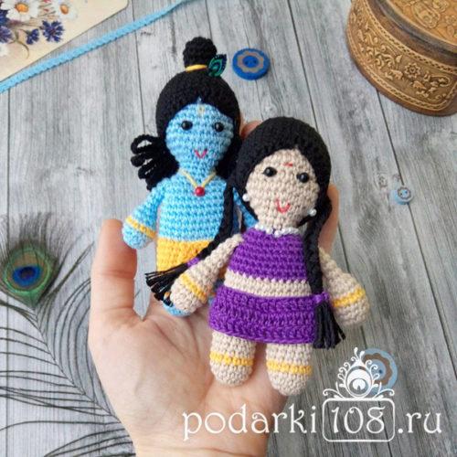 Кукла Радха Кришна мини