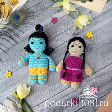 Вязаная кукла Радха Кришна