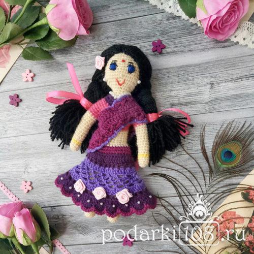 Вязаная кукла Радха купить