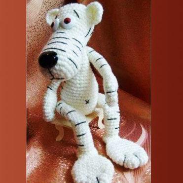 Белый тигр крючком мастер класс