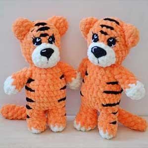 Мини Тигруша Мастер класс Вязаный Тигр крючком