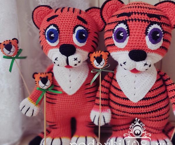 Тигр на палочке Мастер класс