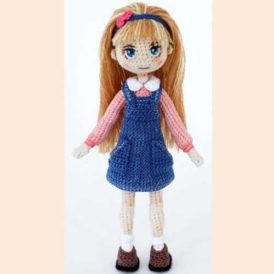 Кукла Анита крючком на каркасе Мастер класс