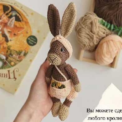 Кролик Стив крючком Мастер класс